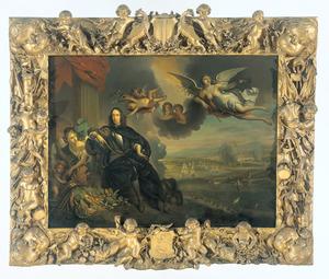 Verheerlijking van Cornelis de Witt (1623-1672) met in de achtergrond de Tocht naar Chatham