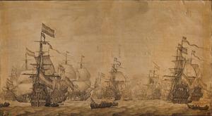 De Nederlandse oorlogsvloot, gereed voor vertrek naar Medway en Sheerness in 1667