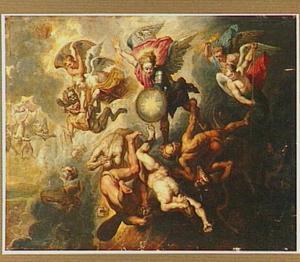 De triomf van de aartsengel Michael over het kwaad tijdens het Laatste Oordeel