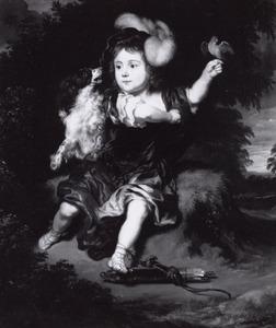 Portret van een onbekende jongen als jager