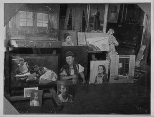 Atelier W.B. Tholen in de Kanaalvilla, te Scheveningen