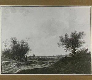 Panoramisch gezicht op Arnhem