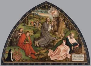 Christus op de Olijfberg met stichteres Agnes von Burgau