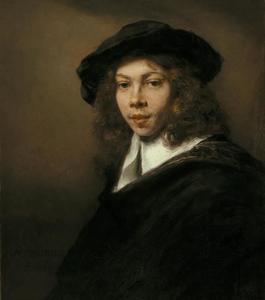 Portret van een jongeman met een zwarte baret