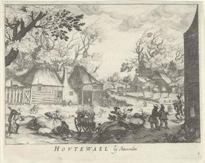 Het dorp Houtewael nabij Amsterdam