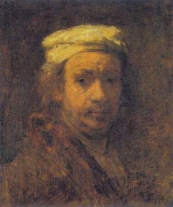 Zelfportret aan de ezel (naar Rembrandt)