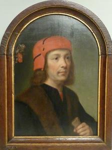 Portret van Adriaen Sandelin Pieters (ca.1450-1515)