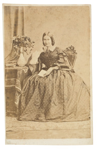 Portret van Elisabeth van den Wall Bake (1839-1899)
