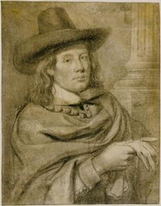 Zelfportret van Cornelis Visscher II (ca.1629-1658)