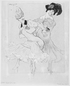 Twee danseressen