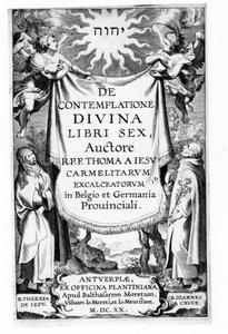 Titelpagina voor Thomas A Iesu, De Contemplatione Divina, Antwerpen 1620