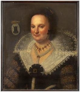 Portret van Adriana Bom van Cranenburgh (1567- 1619)