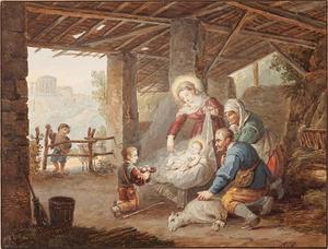Aanbidding van het kind Jesus