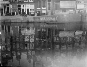 Gezicht op het Singel te Amsterdam