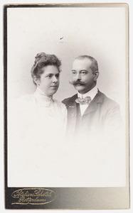 Portret van Jeanne Josepha Marie Driebeek (1873-1942) en Rudolph Benjamin Ledeboer (1863-1926)