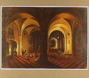Interieur met de bevrijding van de heilige Petrus