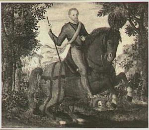 Ruiterportret van Maurits (1567-1625), prins van Oranje