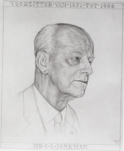 Portret van Jan Anne Jonkman (1891-1976)