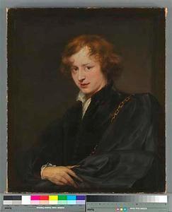 Zelfportret met gouden ketting