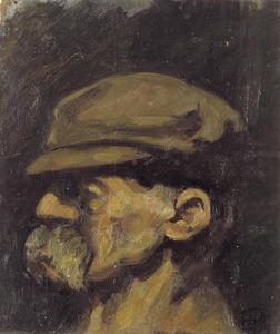 Portret van Nietzsche met pet