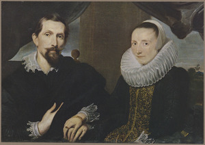 Portret van Frans Snijders (1579-1659) en Margareta de Vos (....-....)