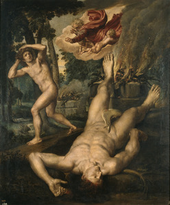 God vervloekt Kaïn na de moord op Abel (Genesis 4:9-15)