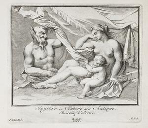 Jupiter in de gedaante van een satyr bij Antiope (pl. XXV)