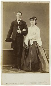 Portret van Samuel Johannes Westerveld Sandberg (1842-1880) en Matthia Jacoba Eijck (1848-1936)