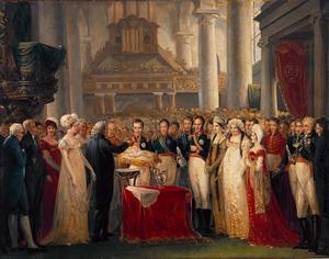 De doop van de latere koning Willem III (1817-1890) in de Augustijnenkerk te Brussel op 27 maart 1817