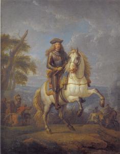 Ruiterportret van Karel VI, keizer van Oostenrijk (1685-1740)