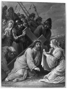 De vijftien mysteriën van de rozenkrans: de kruisdraging van Christus met de ontmoeting met Veronica