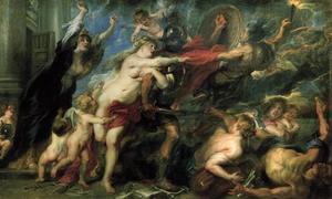 De gevolgen van de oorlog: Venus tracht Mars te weerhouden ten krijg te trekken