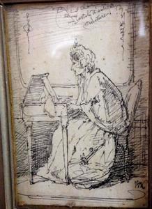 Zingende vrouw aan een piano