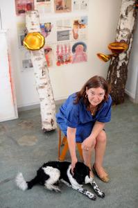Maria Roosen in haar atelier