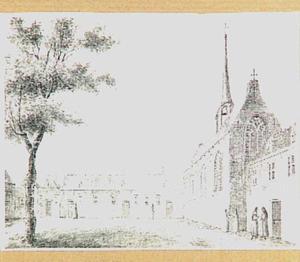 Cellesustersklooster, op de hoek van de Achterburgwal en de Molensteeg in Amsterdam