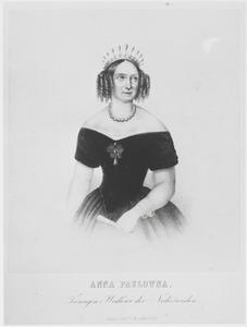 Portret van koningin Anna Paulowna (1795-1865)