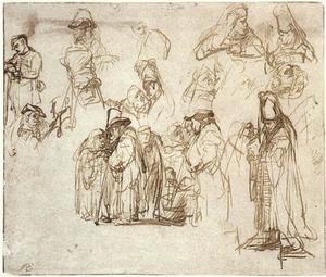 """Studies voor de drie schriftgeleerden in """"De prediking van Johannes de Doper"""""""