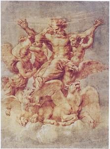 Ezechiëls visioen van God, gedragen door de tetramorfs (Ezechiël 1)
