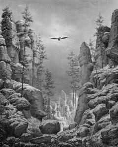 Berglandschap met adelaar