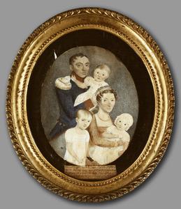 Portret van de familie van Abraham Scheidius (1783-1824) en Marianne Thérèse Valeton (1787-1821)