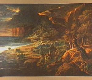 Stormachtig kustlandschap