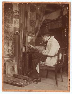 Kees Roovers in zijn atelier