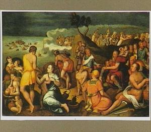 De Israelieten trekken door de Rode Zee onder leiding van Mozes (Exodus 14:26-29)