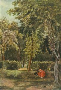 Een stel geliefden in een park