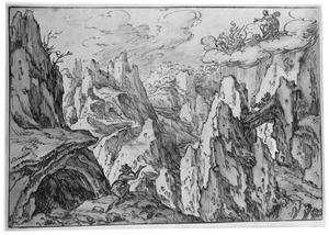 Een Oreade in de wagen van Ceres op zoek naar Fames (Metamorfosen VIII, 74-75)