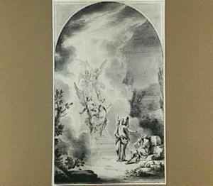 De droom van Jacob: engelen dalen via een trap neer uit de hemel  (Genesis 28:12)