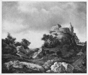 Fantasiegezicht op kasteel Bentheim