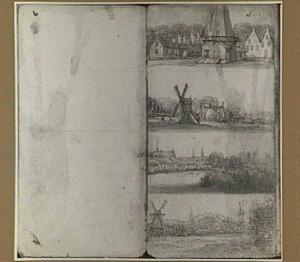Landschappen met molens en andere gebouwen