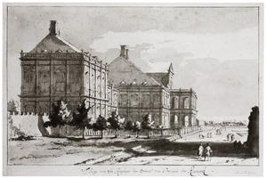 Zijaanzicht van Huis ter Nieuburch te Rijswijk