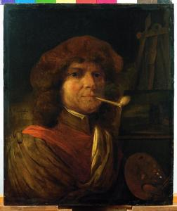 Schilder met een pijp; allegorie op de Reuk